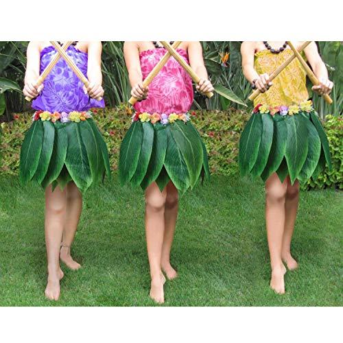 öcke - Bunte Seide Blumenimitat Blatt Rock Kostümpartys, Veranstaltungen, Events, Geburtstage, Feiern & Strand - Elastischer Hula Rock Kleid Röcke Frauen - Luau Hawaii Party ()
