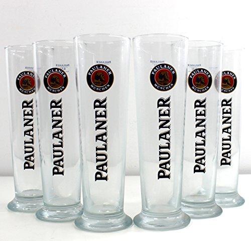 PAULANER Gläser 6x0,5l Weizenbierglas Stange ~mn 614 0964
