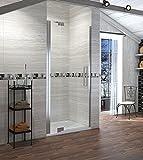 90cm Duschabtrennung Duschtür Duschwand Duschtrennwand mit Nano Beschichtung Höhe 190cm Klarglas Links
