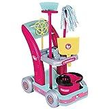 Assieme ad Hello Kitty anche fare le pulizie diventerà piacevole! Le bambine potranno spingere il loro carrello lungo tutta la casa per divertirsi con scopa, paletta, mocio, secchio e battipanni facendo le pulizie!