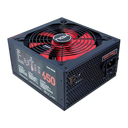 NOX NXS650 - Fuente de alimentación (650 W, 230 V, 140 mm), negro