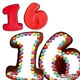 Backformen-Set Zahl 1 und 6 für 16. Geburtstag / Hochzeitstag, Silikonbackformen