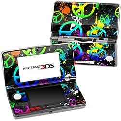 Nintendo 3DS Skin Schutzfolie 4-teilig für alle Seiten Design modding Sticker Aufkleber Unity Neon Peace