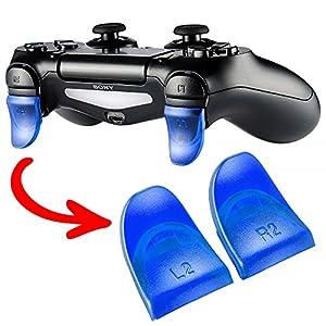 eXtremeRate 2 Paare Blau L2 R2 Triggers Schultertasten Tasten für Playstation 4 PS4 JDM-030 Controller