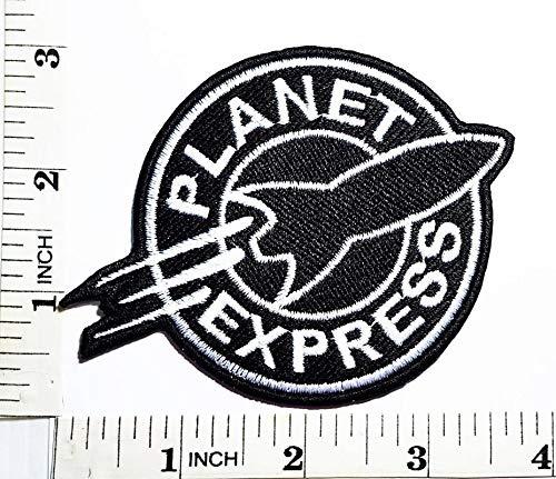 LipaLipaNa Futurama Planet Express Kind Baby Cartoon Patch Symbol Jacke T-Shirt Patch Nähen Eisen auf gesticktem Zeichen Abzeichen Kostüm Applique Souvenir Zubehör