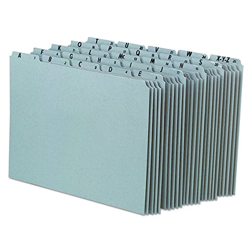 Pendaflex A-Z Top Tab grau Pressspan 1/5-tab Datei Guides, Buchstabe Größe, 25pro Set (pn925)