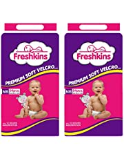 Freshkins Taped Diaper New Born Pack of 2 108 Unit