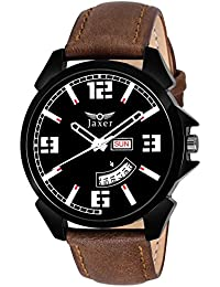 Jaxer Day And Date Black Dial Analog Watch For Men & Boys - JXRM2105