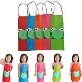 leayao Kinder Kids Cooking Schürzen PVC für Backen Jungen Mädchen Kleinkinder, Kinder Kleinkind Gemälde Schürzen Alter 2–7Schürze, Kinder Jungen Wasserdicht Farbe Malerei coocking PVC, Schürzen für Kinder Alter 2–6(blau)