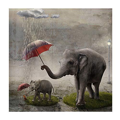 Aobuang 5D Diamant Kunst Dekoration, schöner Elefant voller Bohrer Strass Stickerei Kreuzstich Bilder Kunst Handwerk für Zuhause Wanddekoration (Halloween-kunst-projekte Babys Für)