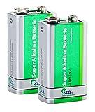 tka Köbele Akkutechnik 9V Blockbatterie: Superlife 9V-Block Alkaline-Batterie, 2er Set (9 Volt Batterie)