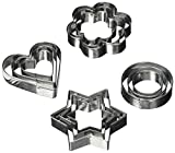 #6: Okayji Stainless Steel Cookie Cutter Set, 12-Pieces, Silver