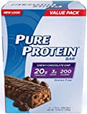 Pure Protein Chewy Chocolate Chip 50g High Protein Bar - 20g Protein - 6 Bars (Chewy Chocolate Chip)