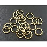 100x bronce abierto saltar Craft joyas anillos–8mm–B03829