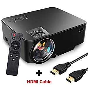 SEGURO Mini Vidéoprojecteur 1080P Full HD 1500 Lumes LED Portable LCD Projecteur USB / HDMI / SD / VGA / AV Entrée Multimédia Home Cinéma pour TV, PC, Xbox, Set-top-box, Ordinateur Portable, Jeux, etc. (Câble HDMI offert)