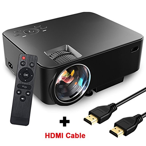 1080P Full HD Projektor, SEGURO Mini Beamer 1500 Lumens LED LCD Heimkino Unterstützt USB / VGA / SD / HDMI / AV Multimedia Video Projektor für TV Box, Laptop, PC, Party Unterhaltung mit HDMI Kabel