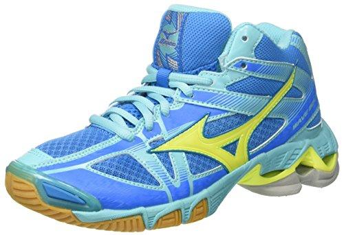 Mizuno Wave Bolt Mid WOS, Scarpe da pallavolo Donna, Multicolore (Divablue/SafetyYellow/Blueradiance), 38 EU
