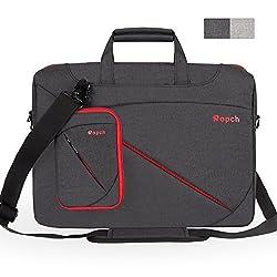 Ropch 15,6 Zoll Laptoptasche Aktentasche Schultertasche Umhängetasche Messenger Bag Notebook Schutzhülle Hülle für Acer / Asus / Dell / HP / Lenovo - Schwarz