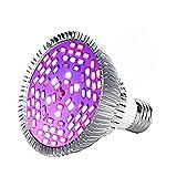 LED Crecimiento Luz E27 30W / 50W / 80W Iluminación LED Luces Regulables para Plantas Vegetal Flor Invernadero (Edición: 30w)