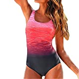 Honestyi Damen Triangel Bandeau Push up Bikini-Set Gepolstert Damen Einteiliger Gepolsterter BH-Bikini-Badeanzug Sexy Stripe Frenulum Bademode