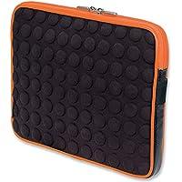 Manhattan Tablet Bubble Case für Ihr Apple iPad bis 25,7 cm (10,1 Zoll) schwarz/orange