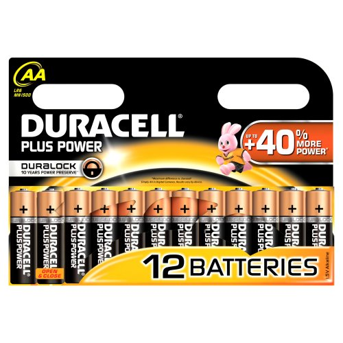 Duracell - Pile Alcaline - Duralock AA x 12 Plus Power (LR6)