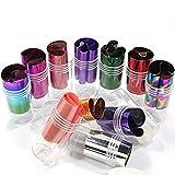Professional 12mix Star pattern Fashion design Glitzy transfer nail art foil roll immagine