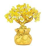 BWINKA Home Tisch Büro Feng Shui Dekoration Kristall Geld Baum für Reichtum und viel Glück