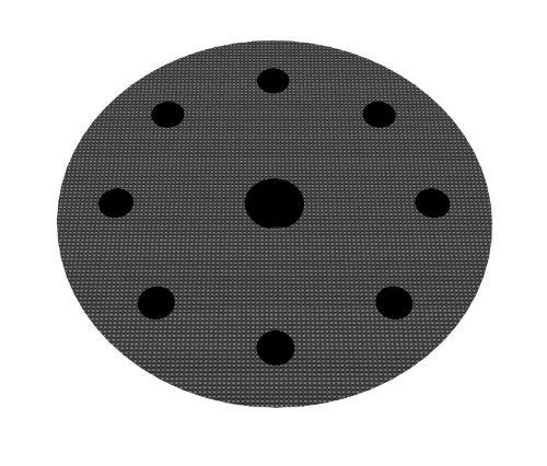Schutzauflage Ø 125mm 8+1-Loch (Festool) für Schleifteller Polierteller Stützteller für Klett-Schleifscheiben - DFS
