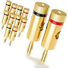 [12 piezas] deleyCON Kit Conectores Banana Sets / bafles / amplificadores / receptores AV / transformadores de salida / hi-fi / equipos stereo