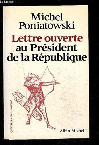 Lettre ouverte au Président de la République