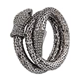 OOFAY TAPS Bracelet Femme Serpent Strass, Punk métal Multicouches Bracelet Mode Animal Non-Allergique Non-décoloration Bracelet pour Fille Amant Femme Lady Fille Cadeau de Luxe (4 Couleurs),C