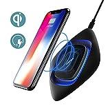 Chargeur sans fil, Wofalo Support de charge rapide pour Samsung S8 / S8 Plus / Note 8 / S7 / S7 Edge, standard compatible Qi pour iPhone X / 8 / 8 Plus, Noir
