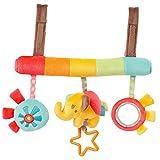 Kinderwagen Spielzeug Kinderwagenkette Rasseln Rassel Baby Spielzeug für Kinderwagen Kette Wagenkette - Elefant, one size