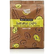 Amazon Brand - Happy Belly Banana Chips, 500 g