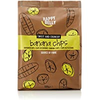 Marchio Amazon - Happy Belly Chips di banane, 500 g