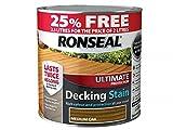 Ronseal RSLUDSMO2LAV Ultimate Decking Stain, Medium Oak, 2.5 Litre