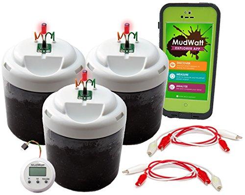 """MudWatt - Erneuerbare Energy aus Erde - Baue Deine eigene lebende Brennstoffzelle - Mint (Mathmatik, Informatik, Naturwissenschaft, Technik) - \""""Science Fair Pack\"""" Kit (Artikel in englischer Sprache)"""