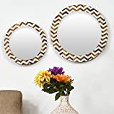Casa Decor Combo Of 2 Wavey String Wall Hanging Wooden Wall Decor Round Shape For Living Room, Dessing Room, Bedroom, Kids Room