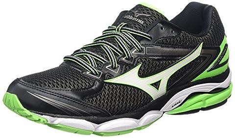 Mizuno Wave Ultima 8 - Chaussures de Running Compétition - Homme - Noir (Black/White/Green Gecko) - 43 EU (9 UK)