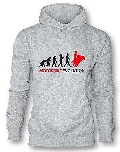 Motorbike Evolution - Herren Hoodie in Größe M (Fleece-stoff Motocross)