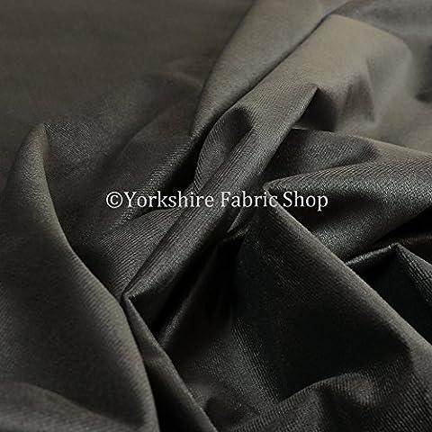 Neue weiche Qualität Low Chenille Velours Samt Vorhang Innendekoration Möbelstoff, schwarz, 10cm x 8cm Sample