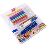 #6: Aeoss 51 Pcs / set Needle Arts Crochet Set Knitting Craft Weaving Plastic Yarn Sewing Tools ( 51 Pcs / set Needle Arts Crochet Set)