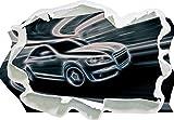 Stil.Zeit Audi A4, Papier 3D-Wandsticker Format: 92x67 cm Wanddekoration 3D-Wandaufkleber Wandtattoo