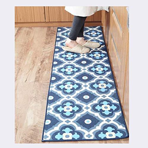 ANXIN Nordisch Streifen Küche Teppich, Rutschfest Schmutzig Öldicht Wasserdicht Fußpolster, 50 *...