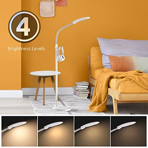 prezzo Aglaia LED lampada a stelo, dimmerabile Stand lampada da 11 W con 3 Temperature E 4 Livelli di Luminosità, Cura degli occhi per soggiorno – Bianco