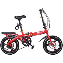 BESTROO 16 Pulgadas Plegable Bicicleta Mini Hombres Y Mujeres Frenos De Disco Amortiguador Plegable Bicicleta Ultra