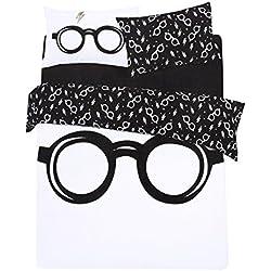 Juego de Cama Blanco y Negro 200x200 Harry Potter