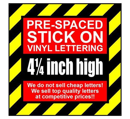 Vinyl-Buchstaben und Zahlen zum Aufkleben, 10 cm hoch, 7 Zeichen Silver (Satin Finish) 10 Ja-satin