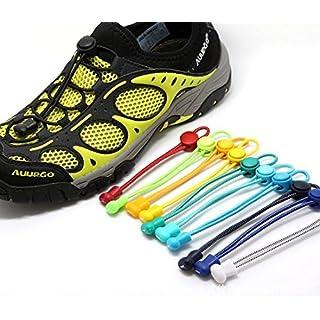 aufodara Elastic Lock Shoelaces For Running & Triathlon (4 Pairs)